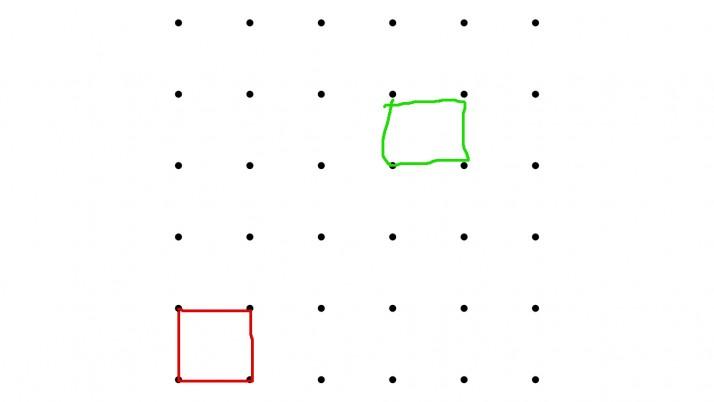 На 5 години: Свържи точките в квадрат