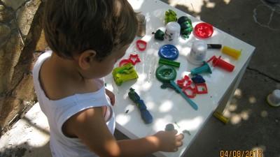 Игра с пластилин