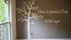 Как да нарисуваме дърво в детската стая