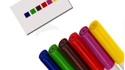 Игра с флумастери за учене на цветове