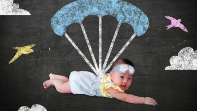 5 игри с парашут
