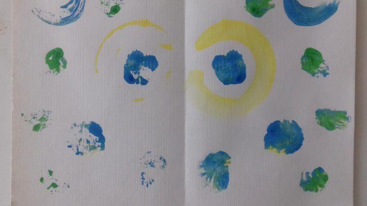 На 4 години: Половин рисунка… цяла рисунка